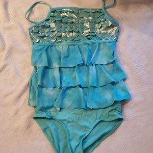 Girl's Justice 2 PC. Swimsuit, Sz. 18/20